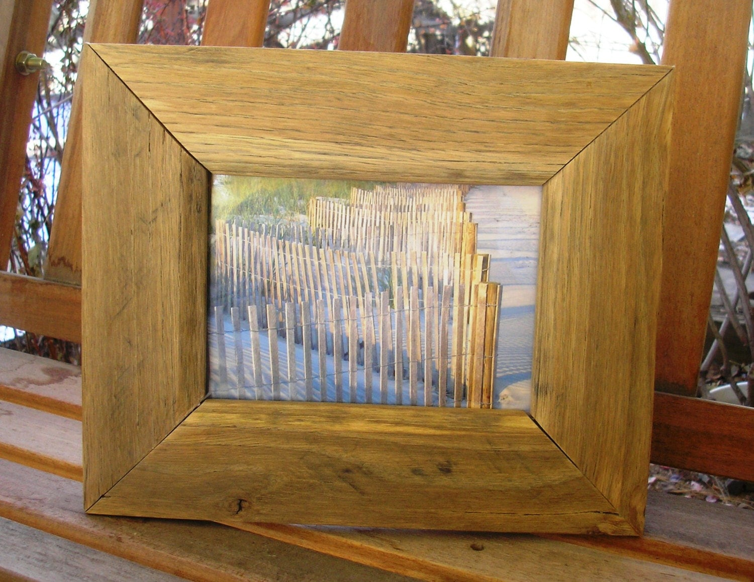 5 x 7 Pallet Wood Picture Frame Rustic by RestorationWorksColo