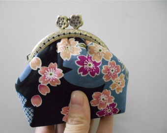 Japanese Cotton Change Purse Small Clutch Wallet
