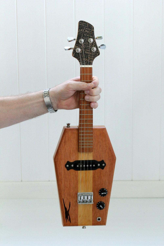 electric ukulele coffin shape