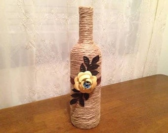 Wrapped Bottle Decor