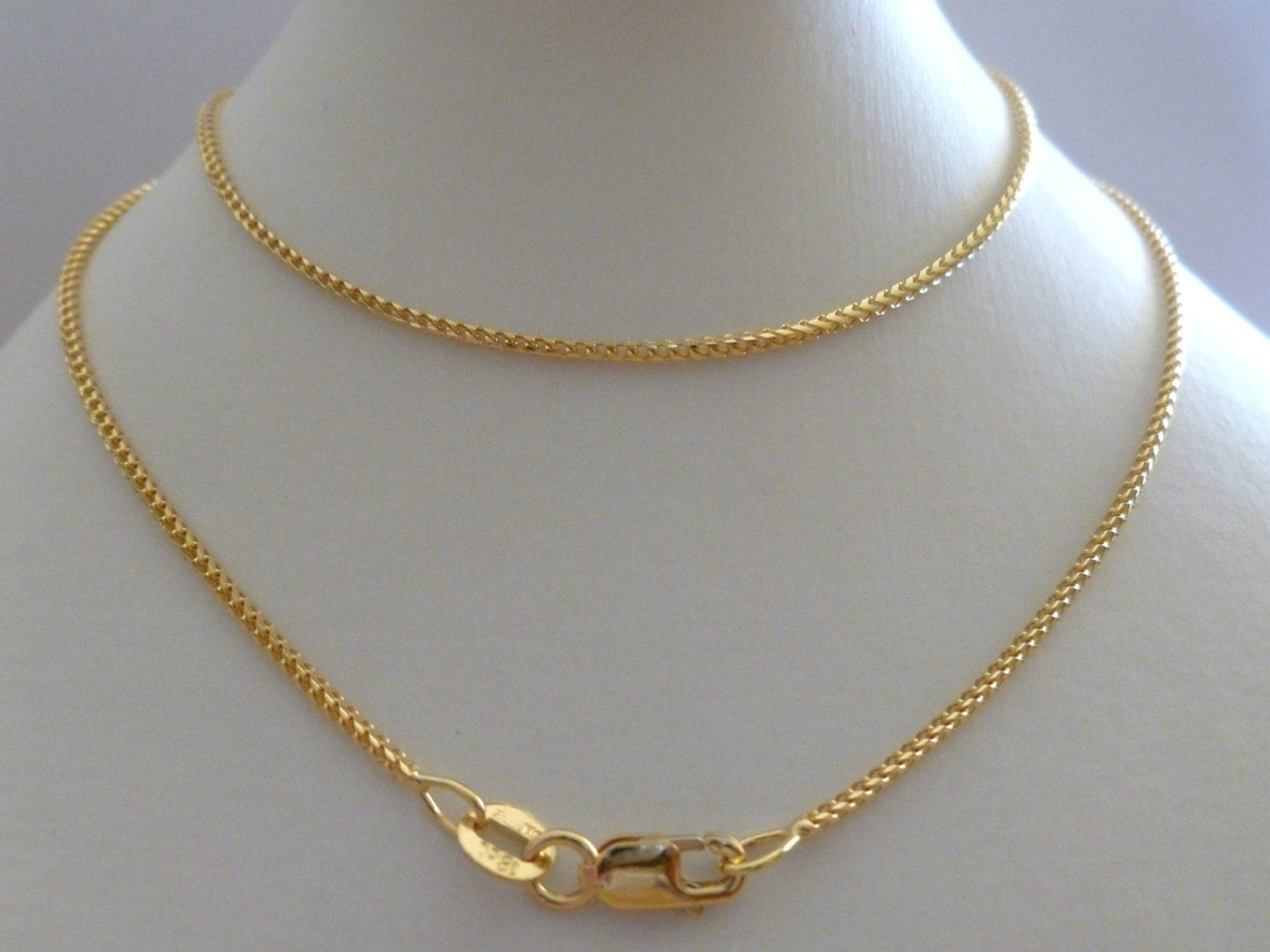 18k 18ct Solid Yellow Gold Franco Chain Men Women Necklace