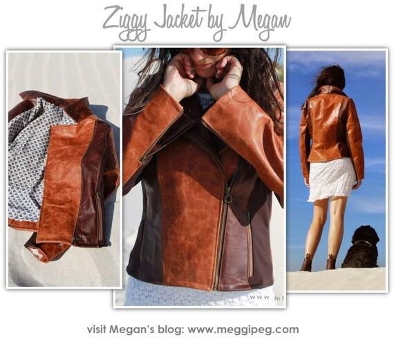 Ziggi Jacket // Sizes 10, 12 & 14 // Women's Biker Jacket PDF sewing pattern by Style Arc // DIY clothing // Sewing Projects