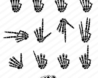 Bone hands clipart and gesture