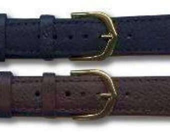 Extra Long Padded Leather Watch Strap/Band 8mm-20mm Black and Brown