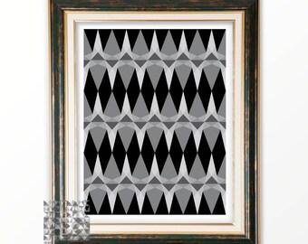 Digital Print Abstract Print Gray Abstract Art Geometric Print Art Modern Art Contemporary Art Triangle Print Wall Decor : A0391