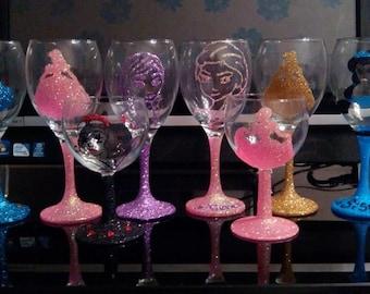 Disney princess glitter glasses!! make an amazing present :)