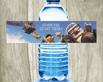 Disney Pixar Up Themed Birthday Printable Water Bottle Labels - Digital File