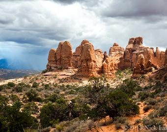 Arches National Park Print, Spring Storm Print, Utah Scenic Print, National Park Art, Fine Art Print, Wall Art, Home Decor