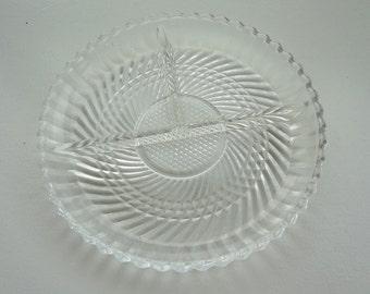 Vintage glass serving plate