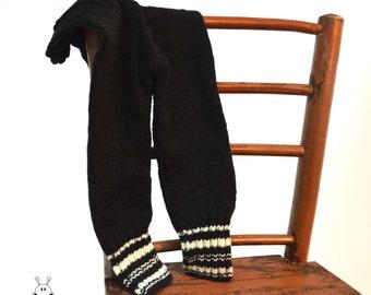 Black baby pants / merino wool leggins / warm baby leggins