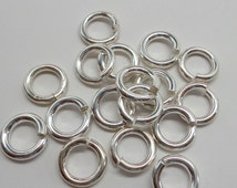 925 solid Sterling silver jump rings open. 10 mm. handmade.. Wholesale. JR16