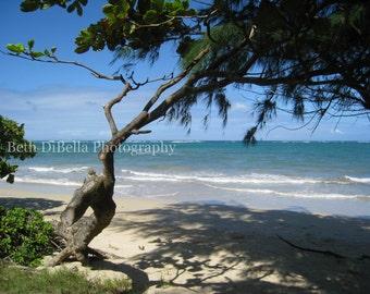 Hawaiian Beach Photo, Set of 5 Blank Photo Notecards