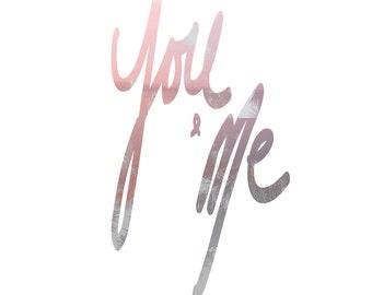 You and me wall art