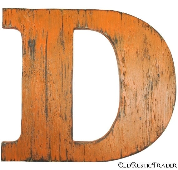 wooden letter d rustic wall letters d wooden letters 12 inch wood letters 25673