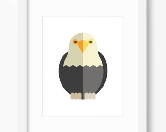 Eagle Print, Bird Art, Bird Print, Nursery Art, Nursery Print, Nursery Bird Print, Nursery Bird Art, Kids Bird Art, Kids Bird Print, Eagle