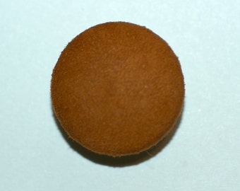 """1"""" Tobacco Suede Covered Button. (25mm)"""