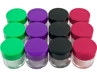 Sample Jars & Containers, 20G 20ML, 12 Pack, Plastic, Twenty Gram, Empty Storage, BPA Free, for Cosmetics Makeup Eyeshadow Nails Jewelry