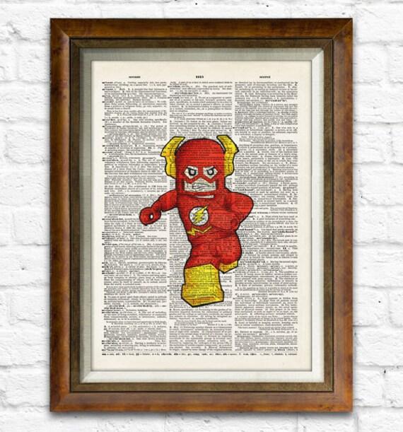 The Flash Art Print Superhero Home Decor Comic Wall By