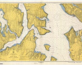 Puget Sound Historical Map 1946