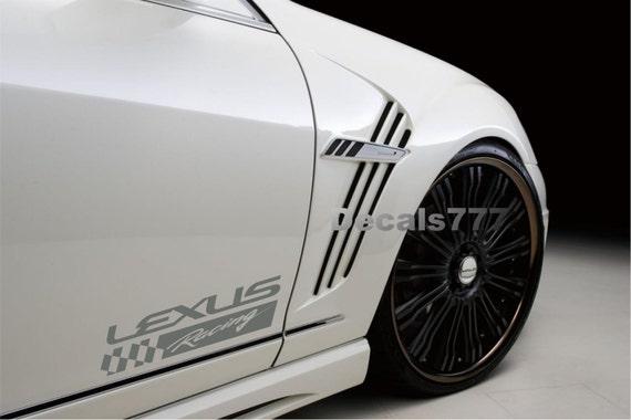 LEXUS Racing CTh ESh Es Gs Gsh Gx IS F - Lexus custom vinyl decals for car
