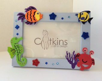 Blue Fish Picture Frame