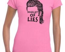 Mullet of Lies eugene walker hunter zombie apocalypse walking tv show dead undead - womens T-shirt- apparel clothing junior fit - IIT255
