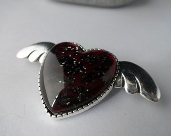 Gothic Heart Brooch