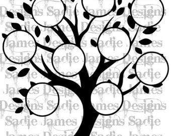 Family Tree SVG and Silhouette Studio cutting file, Instant download