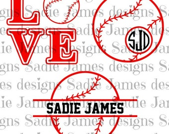 Baseball sports collection SVG and Silhouette studio cutting files, Instant Download