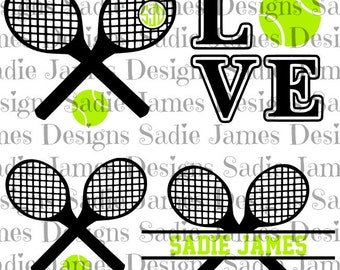 Tennis sports collection SVG and Silhouette Studio cutting file, Instant Download