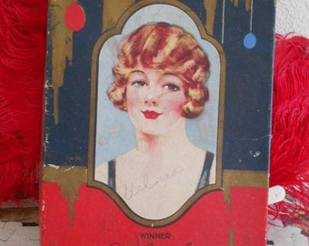1929  Art Deco Chocolate Candy Box dated on inside