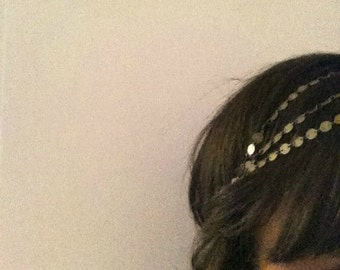 "Headband jewel of romantic head ""Goddess"" the Crea de Marie"