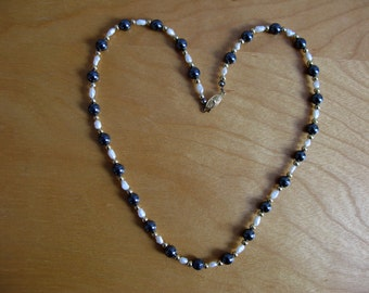 Genuine Freshwater Pearl and Hematite Necklace