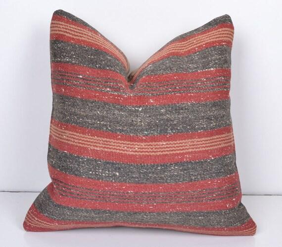 Turkish Kilim Pillow Home Decor Decorative Pillow Home: Kilim Pillow Cover Modern Home Decor Old Kilim By KissPillows