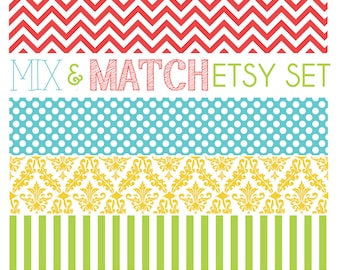 Mix & Match - Build Your Own Custom Etsy Shop Banner - Custom Etsy Shop Header