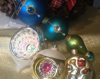 Christmas mercury glass ornaments