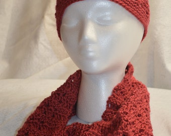 Handmade Crochet Hat & Cowl Set