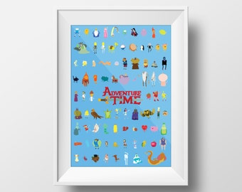 Adventure Time Poster, minimalist themed instant digital download