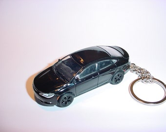 3D 2015 Chryler 200S custom keychain by Brian Thornton keyring key chain finished in jet black color trim diecast metal body 200 s