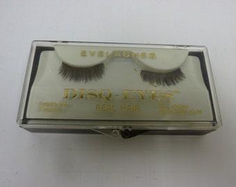 Vintage DISQ-EYES Real Hair False Eyelashes