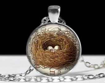 Bird Jewelry Bird Nest Pendant Wearabel Art