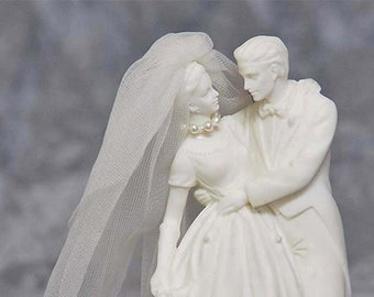 Everlasting Bride and Groom Wedding Cake Topper