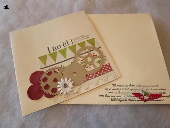 Carte de vœux avec son enveloppe