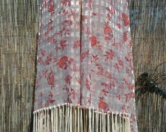 Yesteryear,Native American Style Shawl,PowWow,Regalia,14in Fringe,*