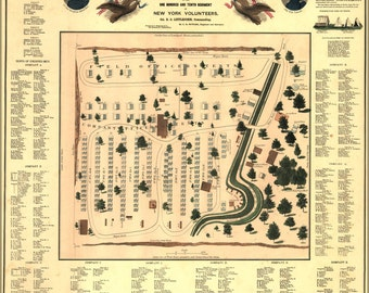 24x36 Poster; Map Of Camp Patterson Park Baltimore Maryland