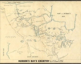24x36 Poster; Map Of Hudson'S Bay'S Country Canada 1850