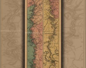 24x36 Poster; Map Of Mississippi River; Cairo To Its Mouth 1863