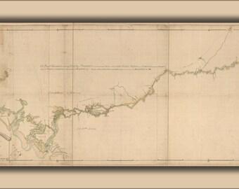 24x36 Poster; Map Of Savannah River Georgia 1752