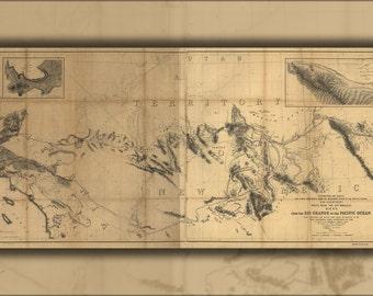 24x36 Poster; Map Rio Grande River To Pacific Ocean 1859