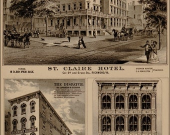 24x36 Poster; St. Claire Hotel Richmond Virginia 1877